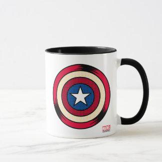 Captain America Halftone Shield Mug