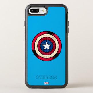 Captain America Halftone Shield OtterBox Symmetry iPhone 8 Plus/7 Plus Case