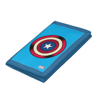 Captain America Halftone Shield Trifold Wallet