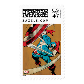 Captain America-He Took On All Of Them Postage