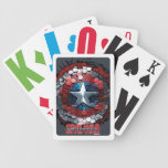 Captain America Hexagonal Ink Splatter Shield Bicycle Playing Cards