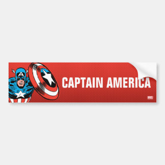 Captain America Jump Bumper Sticker