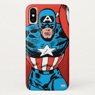 Captain America Jump iPhone X Case