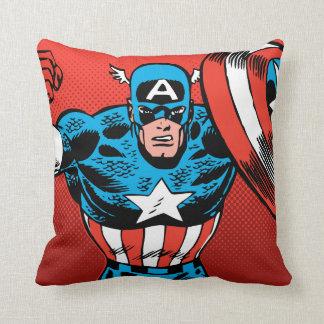 Captain America Jump Throw Pillow