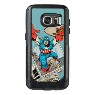 Captain America Leaping Out Of Comic OtterBox Samsung Galaxy S7 Case