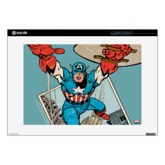 Captain America Leaping Out Of Comic Skin For Laptop