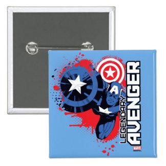 Captain America Legendary Avenger Pinback Button