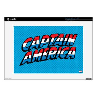 Captain America Name Logo Laptop Decals