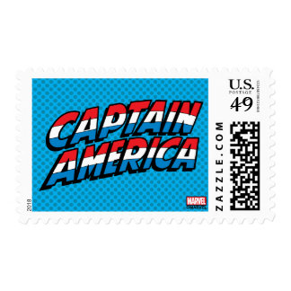 Captain America Name Logo Postage