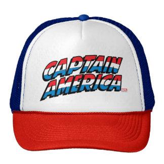 Captain America Name Logo Trucker Hat