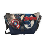 Captain America On City Streets Courier Bags