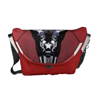 Captain America Patriotic City Graphic Courier Bag