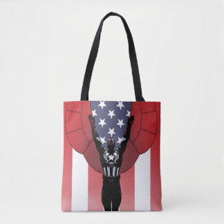 Captain America Patriotic City Graphic Tote Bag