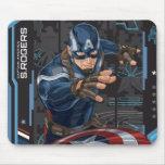 Captain America Profile Card Mouse Pad