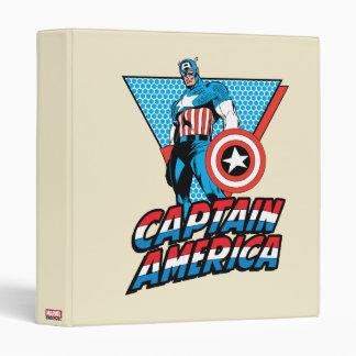Captain America Retro Character Graphic Binder