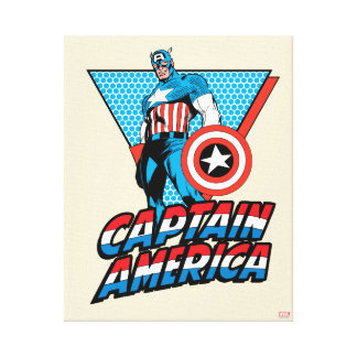 Captain America Retro Character Graphic Canvas Print