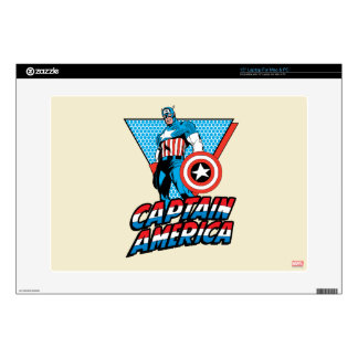 Captain America Retro Character Graphic Decals For Laptops