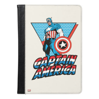 Captain America Retro Character Graphic iPad Air Case