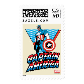 Captain America Retro Character Graphic Postage