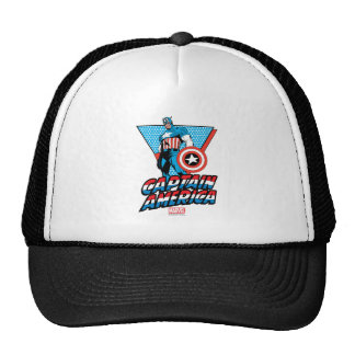 Captain America Retro Character Graphic Trucker Hat