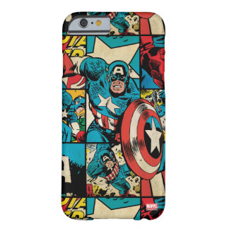 Captain America Retro Comic Book Pattern Barely There iPhone 6 Case