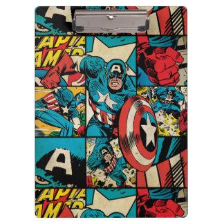 Captain America Retro Comic Book Pattern Clipboard