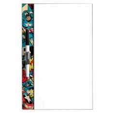 Captain America Retro Comic Book Pattern Dry-erase Board at Zazzle