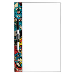 Captain America Retro Comic Book Pattern Dry-Erase Board