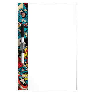 Captain America Retro Comic Book Pattern Dry-Erase Board