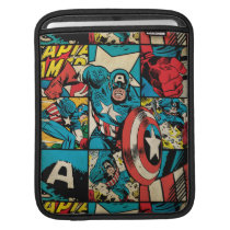 Captain America Retro Comic Book Pattern Sleeve For iPads