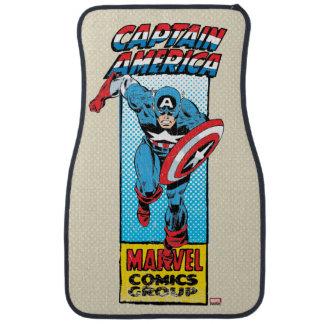 Captain America Retro Comic Character Car Floor Mat