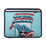 Captain America Retro Comic Character MacBook Sleeves