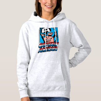 Captain America Retro Comic Icon Hoodie