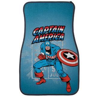Captain America Retro Price Graphic Car Mat