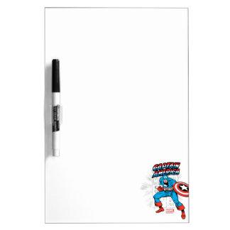 Captain America Retro Price Graphic Dry Erase Board