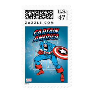 Captain America Retro Price Graphic Postage Stamp