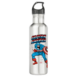 Captain America Retro Price Graphic Stainless Steel Water Bottle