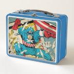 "Captain America Revival Metal Lunch Box<br><div class=""desc"">Check out this retro info page for the revival of the Captain America comic!</div>"