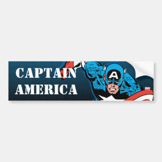 Captain America Run Bumper Sticker
