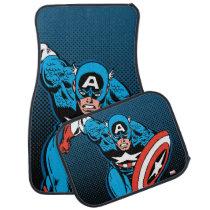 Captain America Run Car Floor Mat