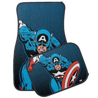 Captain America Run Car Floor Mat