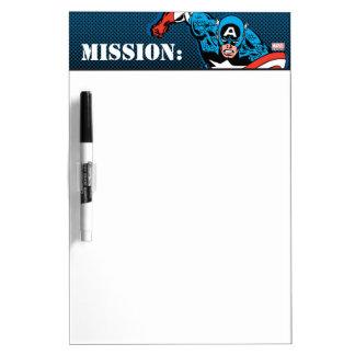 Captain America Run Dry Erase Board
