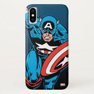 Captain America Run iPhone X Case