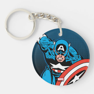 Captain America Run Keychain