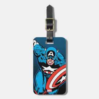 Captain America Run Luggage Tag