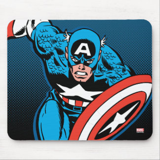 Captain America Run Mouse Pad