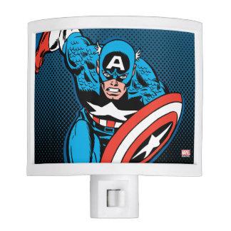 Captain America Run Night Light