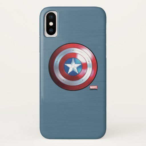 Captain America Shield Badge iPhone X Case