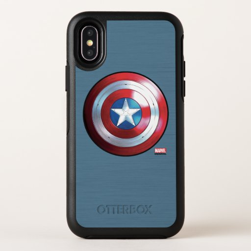 Captain America Shield Badge OtterBox Symmetry iPhone X Case