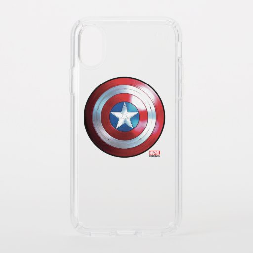 Captain America Shield Badge Speck iPhone X Case